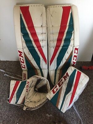CCM Extreme eflex 3 Whl PRO return game used GOALIE PADS and Gloves