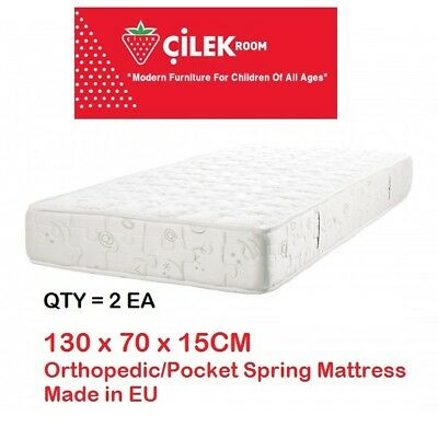 USED CILEK EU 2 Baby Mattress Premium Pocket Innerspring Crib Craddle Newborn