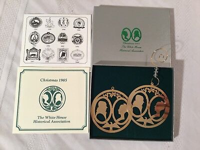 Christmas 1985 White House Historical Association Ornament Dolley James Madison