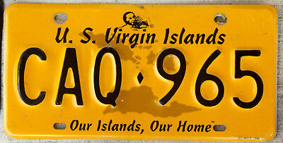 """2000 U.S. Virgin Islands License Plate """"Our Islands, Our Home"""" St. Croix"""