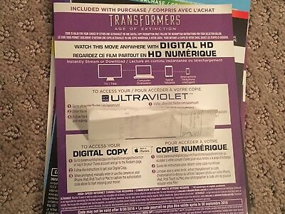 Transformers Age Of Extinction HD Digital Code ONLY