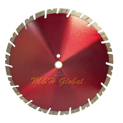 "14"" Alternating Notched and Turbo Segmented Diamond Blade 15 mm Rim"