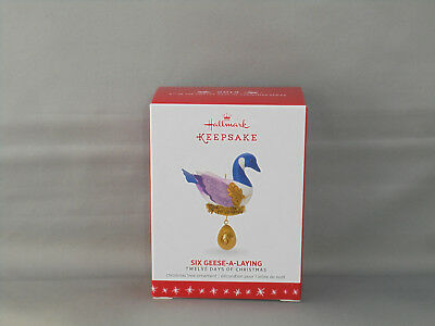 Hallmark 2016 Six Geese-A-Laying - Twelve Days Of Christmas - 6Th In The Series