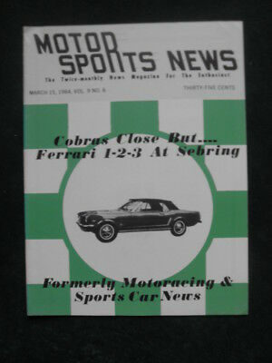 Motor Sport News March 15, 1964 Early Mustang Cover