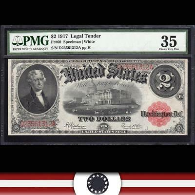 1917 $2 Legal Tender UNITED STATES NOTE Fr 60 PMG 35 D23561312A