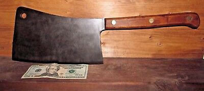 "Large 20"" Chicago Cutlery Meat Butcher Cleaver Antique Vintage Old"