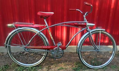 vintage 1966 Huffy SILVER JET chrome BICYCLE spaceliner middelweight 26x1.75