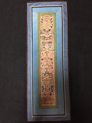 Antique Chinese robe's silk embroidered panel- Figures & scenes    #13