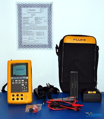 Fluke 743B Process Calibrator - NIST Calibrated + Warranty + Extras!