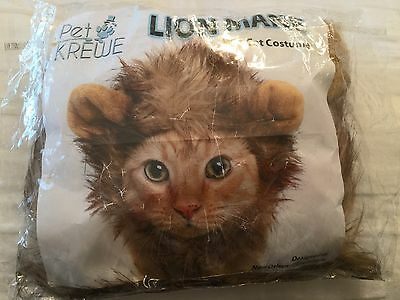 Lion Mane Cat Costume + Complimentary Feathered Catnip Toy By Pet Krewe