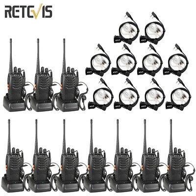 6xretevis H777 Uhf Walkie Talkie 16ch 5w 1000mah 2 Way Radio