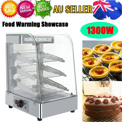 Commercial Food Pizza Pie Pastry Soup Warmer Hot Display Showcase Cabinet AU