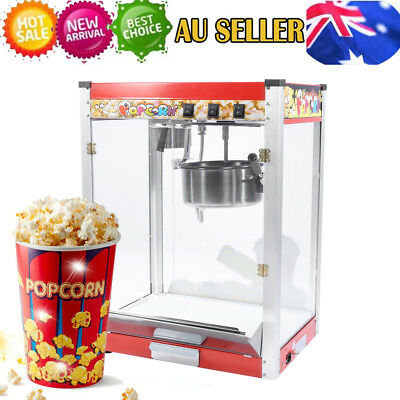 8oz Commercial 3 Control Switch Popcorn Machine Pop Corn Popper Maker 1440W AU
