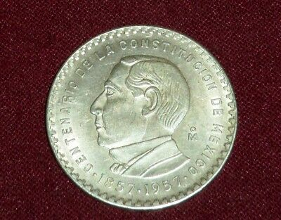 Scarce 1957 Constitution Comm. 5 Pesos, 1 Year Type Uncirculated Coin, Ship Free