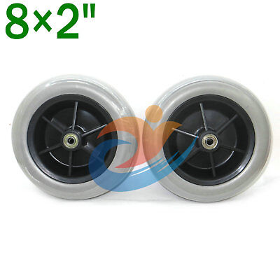 "pair 8x 2"" Solid Tires Wheelchair Rear Caster Tires for Pride Jazzy/Jet Electric"