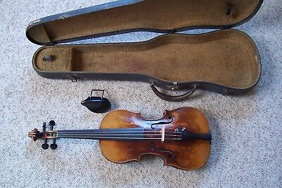 Antique Full Size Estate Violin with Case