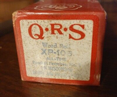 """QRS XP-106 Piano Roll Football Favorites no.1 """"On Wisconsin! Down the Field"""""""