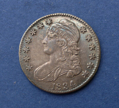 1834 50c Large Date Large Letters  Draped Bust Half Dollar