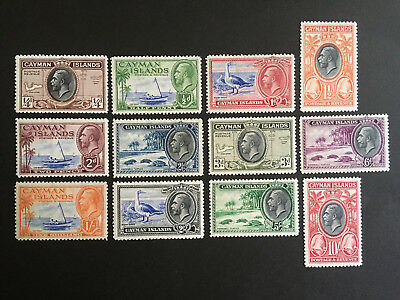 Cayman Islands stamps. 1935 KGV set. SC 85/96. Mint as shown. CV $275