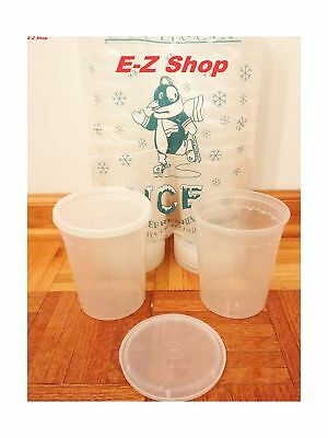 25 sets 32oz plastic soup/Food container with lids 25 PACK