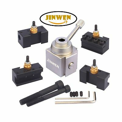 Jinwen 120034 Tooling Package Mini Lathe Quick Change Tool Post & Holders Mul...