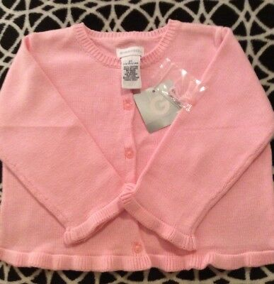 NWT Gymboree Vintage 1999 Girls Medium Weight Pink Cotton Sweater Size 2T Cute!