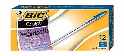 BIC Cristal Xtra Smooth Ball Pen Medium Point (1.0 mm) Blue 12-Count 12 Count