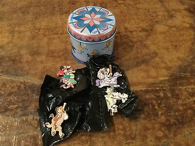 disney Pins Carousel 4 pin with tin le collection