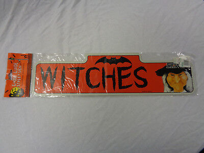 Vintage Telco Motionette Witches Drive Ghoul Guide Street Sign Halloween Prop