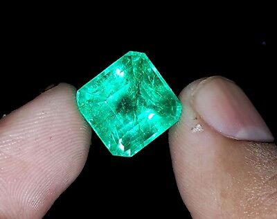 Beautiful Square Shape 10.26 Ct Natural Certified Colombian Emerald Gems