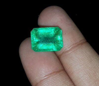 Amazing 7.42 Ct Emerald Shape Natural Colombian Certified Emerald eBay
