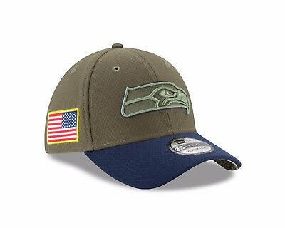 wholesale dealer 34dee ea030 Seattle Seahawks New Era 2017 Salute To Service 39THIRTY Flex Hat – Olive