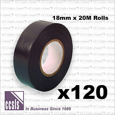 Box of 120 Rolls Electrical Insulation Tape - Black