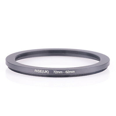 RISE(UK) 72mm-62mm 72-62 mm 72 to 62 Step down Ring Filter Adapter bla