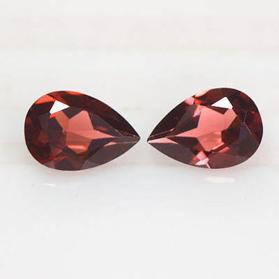 2.98 cts Superior Natural Mined Gems Pyrope Red Garnet Pear Cut Best Pair 9x6 mm