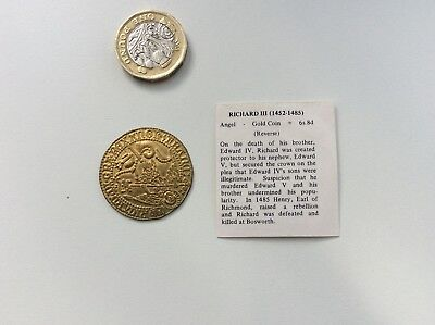 Richard 111 Replica Gold Coin 1452 - 1485 Royalty Battle Of Bosworth