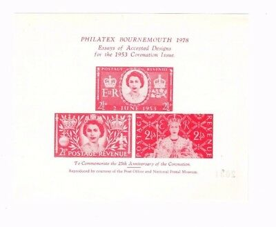 1978 Philatex Bournemouth Coronation Souvenir Sheet From Collection T16