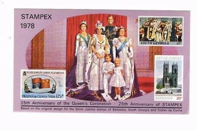 1978 STAMPEX CORONATION 25th ANNIVERSARY SOUVENIR SHEET FROM COLLECTION T18