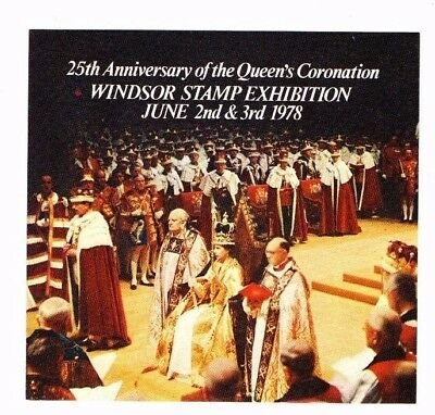 1978 WINDSOR STAMP EXPO CORONATION 25th ANN. SOUVENIR SHEET FROM COLLECTION T20