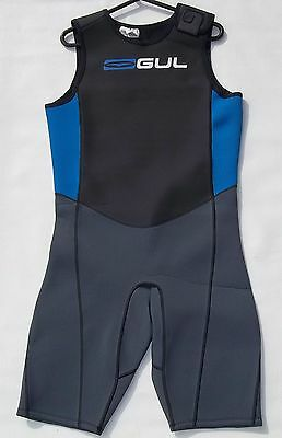 Gul Response Mens M Medium Short John Shortie Wetsuit Black / Blue Shortjohn