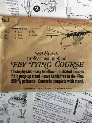 Veniard Fly Tying Device With Old Fly Tying Instructions