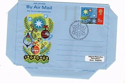 1972 Christmas - Bureau H/s Air Letter From Collection A20