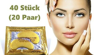 40 Crystal Collagen Gold Powder Eye Augen Pad Anti Aging Feuchtigkeit Maske
