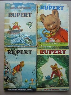 Rupert The Daily Express Annual bundle 1950 1959 1969 1971