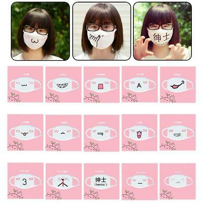 Hot 1PC Cute Anime Emotiction Mouth-muffle Kaomoji Anti-Dust Face Mask Kawaii