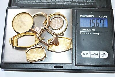 9Ct Solid Gold Watch Casings 15.67 Grams