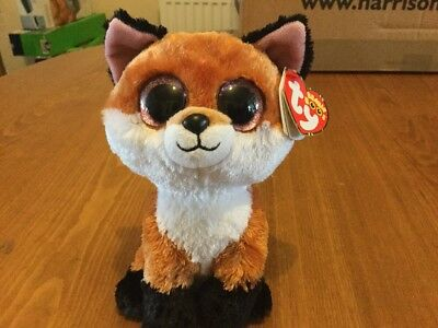 Ty Beanie Boo Collectable Plush 6 Inch Slick The Fox