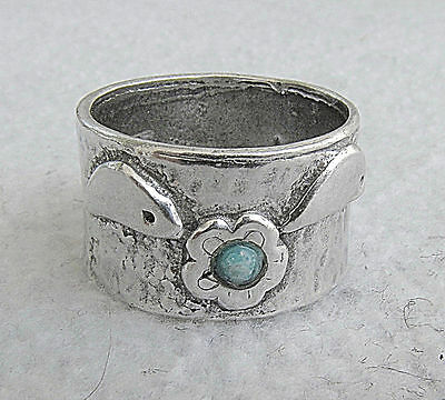 Vintage  Silver Sterling 925 Ring Size: 6.5 Signed Israel Hand Crafted