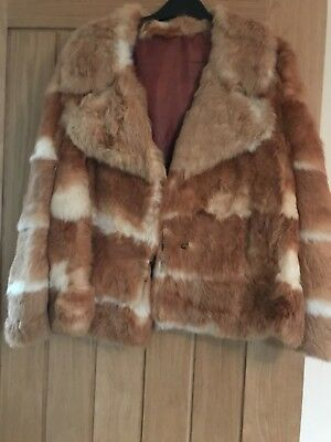 Fur Coat real and vintage  Size 10-12