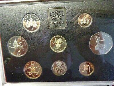 1990 RED DELUXE ROYAL MINT Proof Set Of Coins